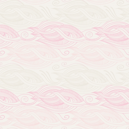 Stylized waves elements pattern Vector