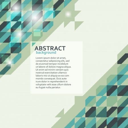 Abstract geometric background in green tones Vector