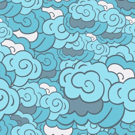 Stylised cloudy background