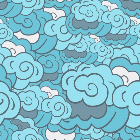 Stylised cloudy background