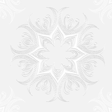 White ornament invitation card