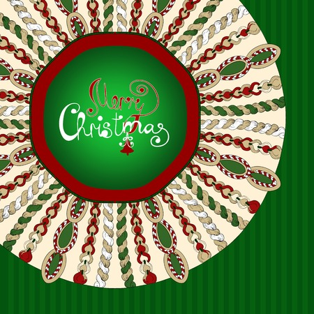 Christmas stylized knitted background