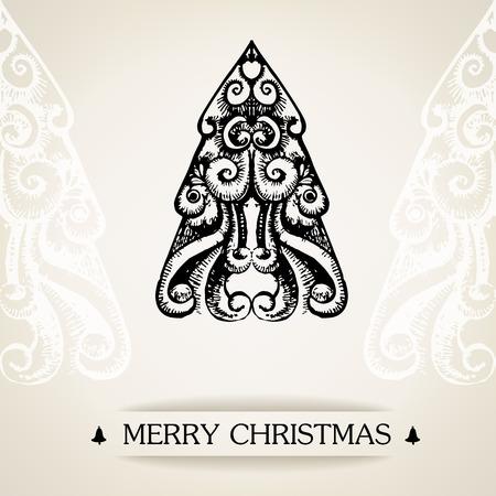 Ornamental vintage christmas card