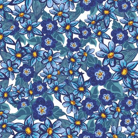 Handdrawn floral seamless pattern Illustration