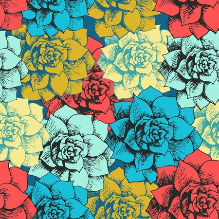 Vintage seamless flower pattern Illustration