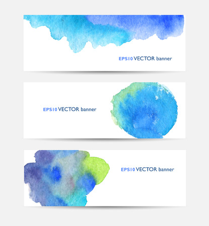 Watercolor colorful stains