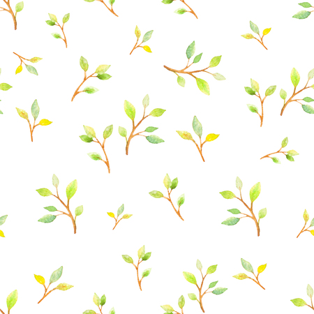 watercolor paper: Watercolor floral botanical seamless pattern. Good for printing on fabric, wrapping paper, wallpaper. Raster illustration.