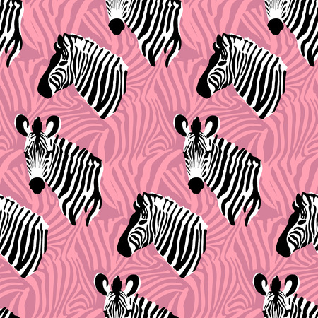 striping: Vector seamless pattern texture with zebra stripes Illustration
