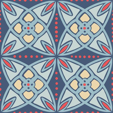 Abstract vector geometrical ornamental seamless pattern background 일러스트