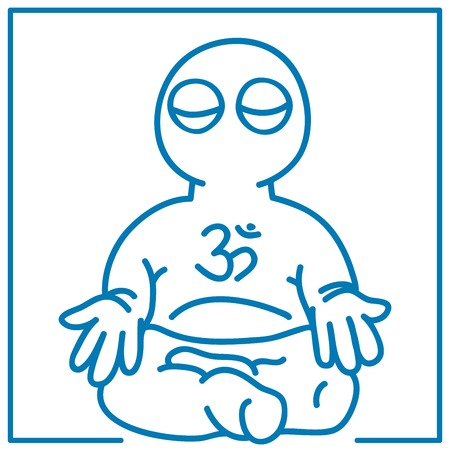 illustration of the little man in meditation Stock Vector - 24711311