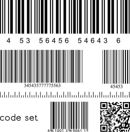 vector international barcode set for your design