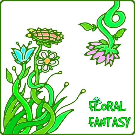 vector illustration of flower background for design