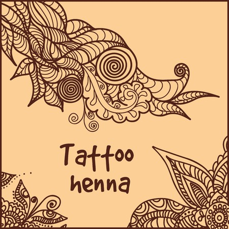 illustration of abstract pattern of a tattoo henna