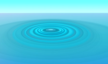 background image of concentric ripples in water Illustration