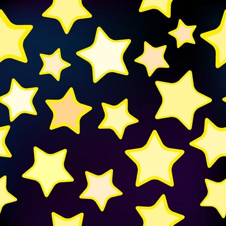 illustration of a seamless star pattern for design Illustration