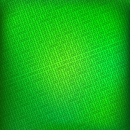 vector green background with digital binary matrix Illustration