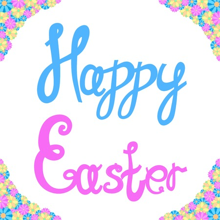 vector illustration of an inscription of happy easter Illustration
