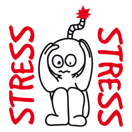 stressful: vector illustration of person in a stressful state Illustration