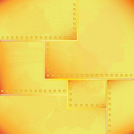 lamiera metallica: illustrazione vettoriale di vecchia lamiera rivettata Vettoriali