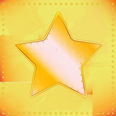 riveted: vector illustration of old riveted star for design Illustration