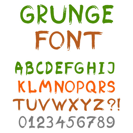 vector illustration of  English alphabet in grunge style Illustration