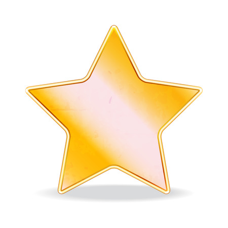 gold star: illustration of a gold star for design�