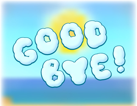 good bye: illustration of inscription goodbye to summer background