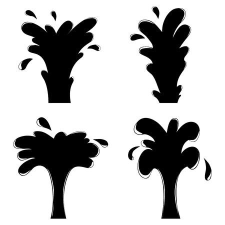 vector illustration of isolated gusher set for design