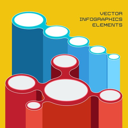 vector illustration of infographics elements for presentation