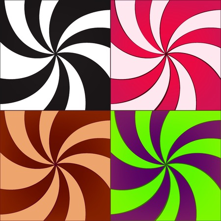 twirled: vector set of twirled backgrounds for design Illustration