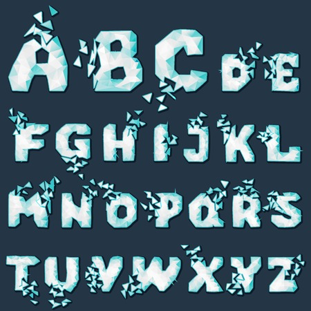 dynamic crumble font Vector