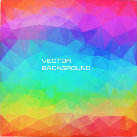 vector bright abstract background of triangles in colors of rainbow Illustration