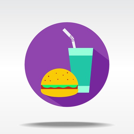 vector illustration of flat icon of fast food Vector