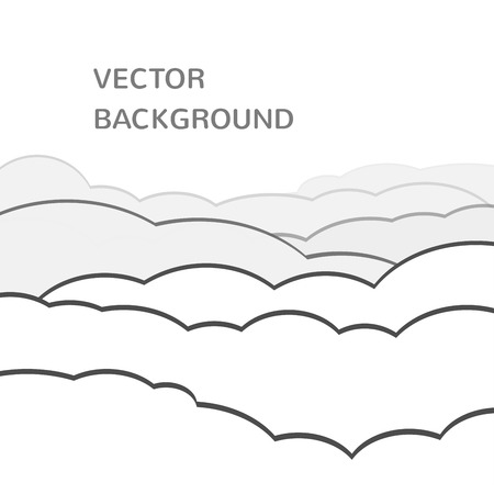 ร   ร   ร   ร  ร ยข  white clouds: vector cloudy background. Flying white clouds on the sky