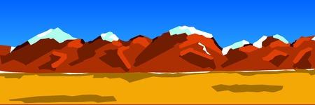 range: vector background illustration of a mountain range Illustration