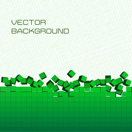 Vector background. Pixel art and digital binary code Vector