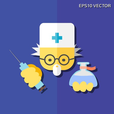 medics: Vector flat icon - doctor. For websites, print and presentation templates, creating logos and infographics, web and mobile services and apps.