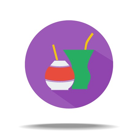 vector flat icon - ethnic drink mate Illustration
