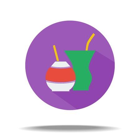 mate: vector flat icon - ethnic drink mate Illustration