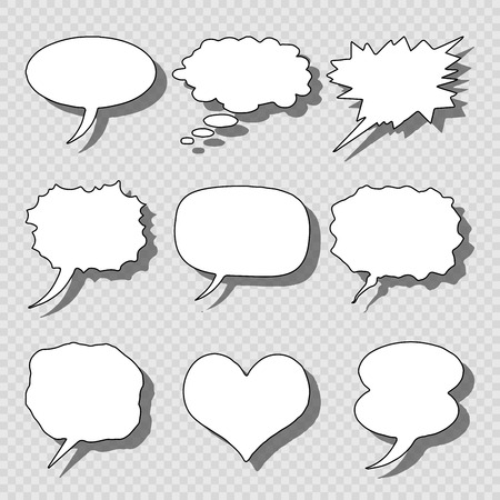 vector set of isolated comics bubble speech Vector