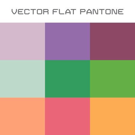 discreto: conjunto de vectores de la popular muestra de color pantone plana