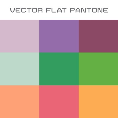 subdued: vector set of popular flat pantone color swatch