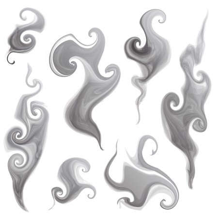 smoky: vector set of isolated smoke and smoky patterns