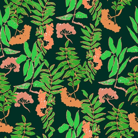 ashberry: vector seamless rowan pattern for design Illustration