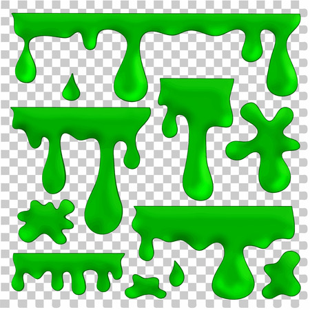 blots: vector isolated green blots, splashes and smudges Illustration