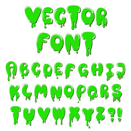 blood drops: Liquid cartoon font. Stock vector for design