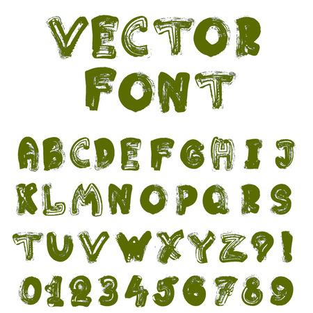 negligent: English alphabet in grunge style. Vector stock illustration