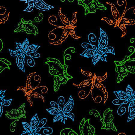Seamless butterflies pattern. Stock vector for design