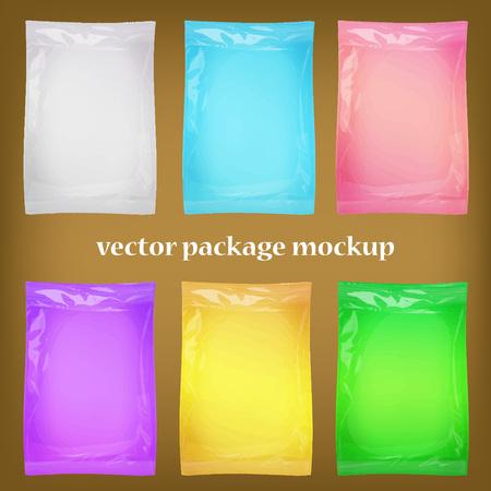 packing: 3d package blank mockups  for design of packing. Vector set Illustration