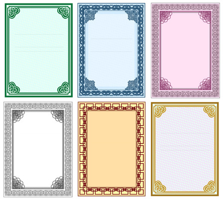 Framework for design of certificates and diplomas. Vector set